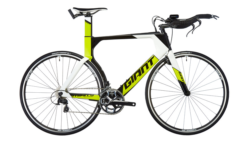 Giant Trinity Advanced Triathlon gul/sort